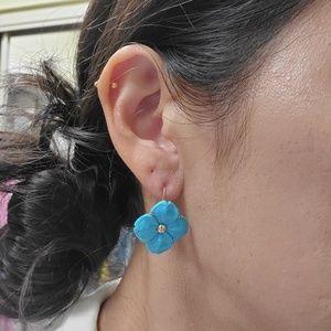 Jewelry - Turquoise blue gemstone earrings